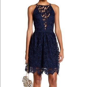 Love…Ady Chemical Lace Fit & Flare Dress
